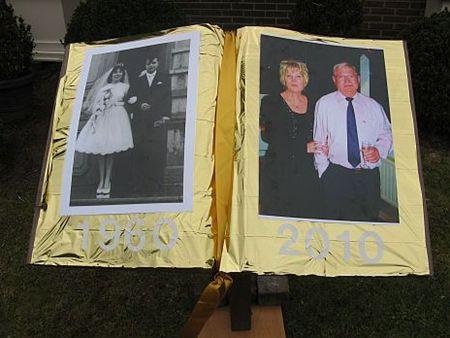 Neerpelt gouden bruiloft in de lavendelstraat for Gouden bruiloft versiering