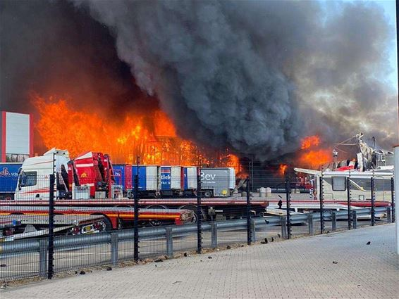 Hinder door brand in Hapert - Lommel
