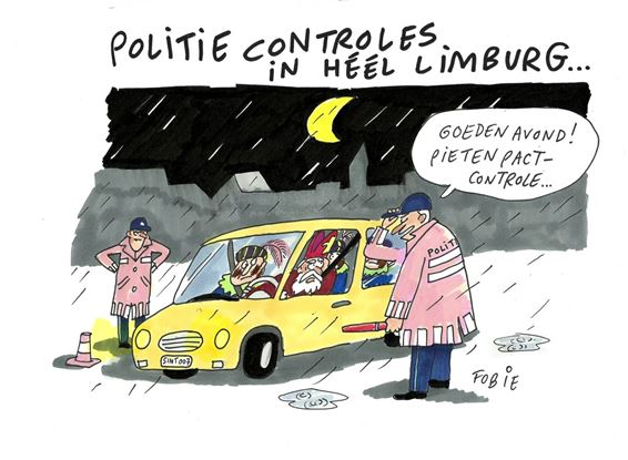 Overal politiecontroles dit weekend