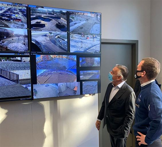Videowall in politiecommissariaat - Tongeren