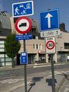 Verkeersborden toegang Kerkstraat